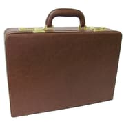 AmeriLeather Expandable Executive Attach  Case; Brown