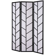 Roundhill Furniture 71'' x 51'' Climbing Screen 3 Panel Room Divider