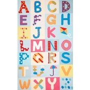 nuLOOM Uzbek Alphabet Boxes Multi Area Rug; 4' x 6'