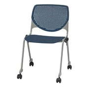 KFI Seating Kool Series Armless Stacking Chair; Navy