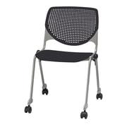 KFI Seating Kool Series Armless Stacking Chair; Black