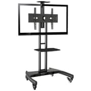 "Rocelco Adjustable Height Mobile TV Stand for 32-70"" Flat Screen TVs"