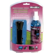 Rocelco Screen Cleaner with Micro-Fiber Cloth and Brush