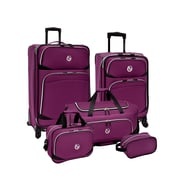 Beverly Hills Country Club San Vincente 5pc Spinner Luggage Set, Purple