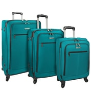 Traveler's Choice Merced Lightweight 3-Piece Spinner Luggage Set, Green