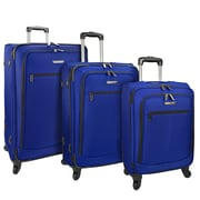 Traveler's Choice Merced Lightweight 3-Piece Spinner Luggage Set, Blue