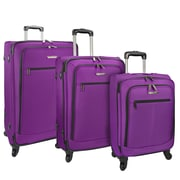 Traveler's Choice Merced Lightweight 3-Piece Spinner Luggage Set, Purple