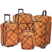 U.S. Traveler 4-Piece Casual Luggage Set, Orange
