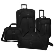 U.S. Traveler Oakton 4-Piece Luggage Set, Black