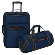 U.S. Traveler Hillstar 2-Piece Casual Luggage Set, Navy
