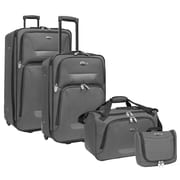 U.S. Traveler Westport 4-Piece Luggage Set, Gray