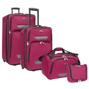 U.S. Traveler Westport 4-Piece Luggage Set, Plum