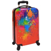 "U.S. Traveler 20"" Fashion Paint Splatter Hardsided Spinner Luggage"