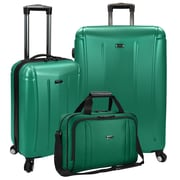 U.S Traveler Hytop 3-Piece Spinner Luggage Set, Green