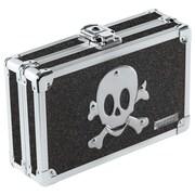 Vaultz® - Locking Pencil Box, Black Bling w/Skull (VZ00128)