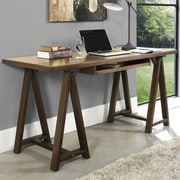 Simpli Home Sawhorse Computer Desk with Integrated Keyboard Tray