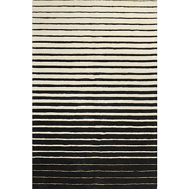 Bashian Rugs Ashland Ivory & Black Area Rug; 3'6'' x 5'6''