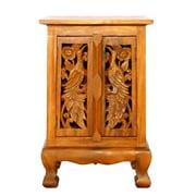 EXP D cor Handmade 24'' Exotic Peacocks Storage Cabinet