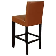 Monsoon Pacific Villa 26'' Bar Stool with Cushion (Set of 2); Light Brown With Brown Legs