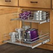 Rev-A-Shelf 21'' x 22''  2 Tier Wire Basket Cabinet Organizer Rack
