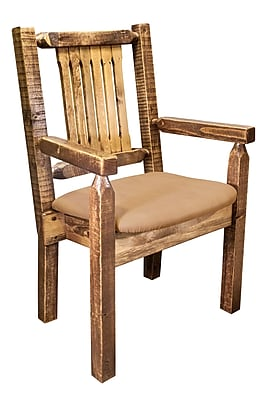 Montana Woodworks Homestead Arm Chair; Buckskin WYF078277698552