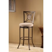 Hillsdale Rowan 30'' Swivel Bar Stool with Cushion