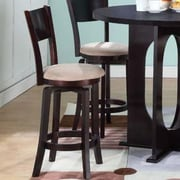 InRoom Designs Bar Stool with Cushion (Set of 2)