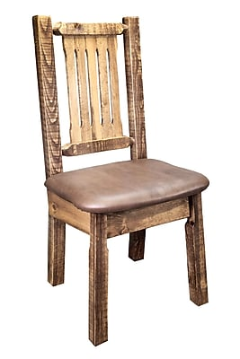 Montana Woodworks Homestead Side Chair; Saddle WYF078277698453