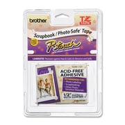 "Brother ® 26.2' x 0.47"" Thermal Transfer Acid Free Label Tape, Black on Clear (TZEAF131)"