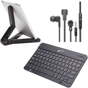 Califone  KB4E3TPACK Bluetooth Peripheral Pack for Smartphone/Tablet, Black