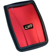 CMS ABS-Secure V2 1TB USB 2.0 Encrypted Portable External Hard Drive, Red