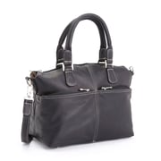 Royce Leather Lightweight Duffel Bag, Colombian Leather, Black (636-Black-VL)