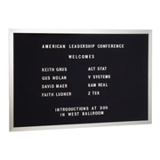 Salsbury Industries Open Face Wall Mounted Letter Board, 2' H x 3' W