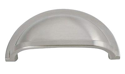 HickoryHardware Williamsburg 3'' Center Cup/Bin Pull; Stainless Steel WYF078276333463