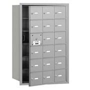 Salsbury Industries 4B+ Horizontal Mailbox 18 Doors Front Loading USPS Access ; Aluminum