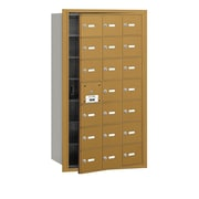 Salsbury Industries 4B+ Horizontal Mailbox 21 Doors Front Loading USPS Access ; Gold