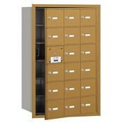 Salsbury Industries 4B+ Horizontal Mailbox 18 Doors Front Loading USPS Access ; Gold