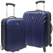 Traveler's Choice 2 Piece Hardsided Expandable Luggage Set; Navy
