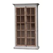 White x White Mallory Vitrine 85'' Standard Bookcase
