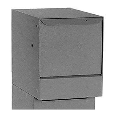 dVault Vault Locking Wall Mounted Mailbox; Gray