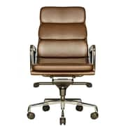 Wobi Office Clyde High-Back Leather Office Chair; Brown