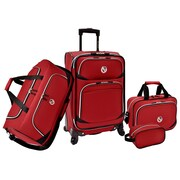 Beverly Hills Country Club San Vincente 4 Piece Luggage Set; Red