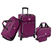Beverly Hills Country Club San Vincente 4 Piece Luggage Set; Purple