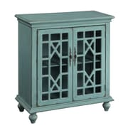 Coast to Coast Imports 2 Door Cabinet; Bayberry Blue