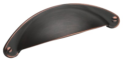 Amerock Essential'Z 2 1/2'' Center Cup/Bin Pull; Oil Rubbed Bronze WYF078276947785