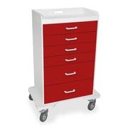 TrippNT 5 Caster Procedure Storage Cart; Cherry Red