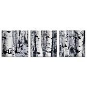 Metal Art Studio Maps & Landscapes  Aspen Triptych  Graphic Art Plaque