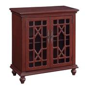 Coast to Coast Imports 2 Door Cabinet; Enson Texture Red