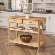 "Home Styles 36"" Sustainable Hardwood Kitchen Cart"
