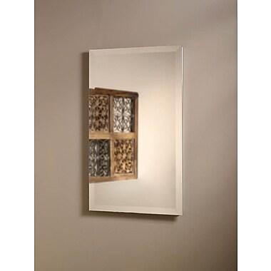 Jensen Perfect Square 16'' x 26'' Recessed Beveled Edge Medicine Cabinet
